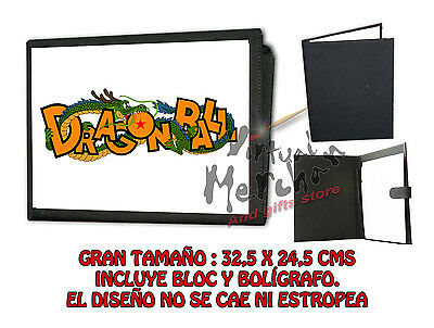 CARPETA DRAGON BALL LOGO LONETA NEGRA FOLDER bloc notas es