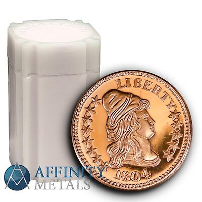 20 Coins-  Capped Bust 1 oz .999 Copper Bullion Rounds