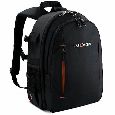 K&F Concept DSLR Camera Backpack Bag Case for Canon Nikon Sony Free Rain Cover