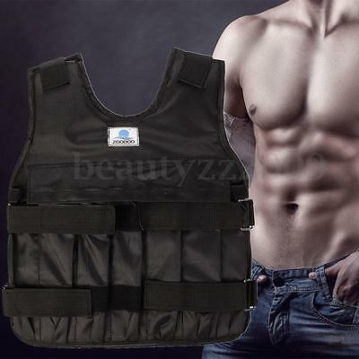 Max Loading 20kg Adjustable Weighted Vest Jacket Boxing Training Waistcoat
