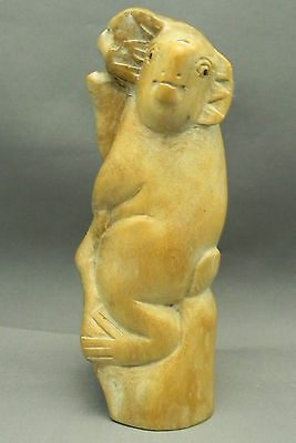 Wood Carving Parasite Wood Koala H.15Cm X W.6Cm