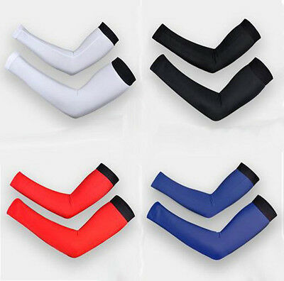 New 1pair Cycling Bike Bicycle Arm Warmers Cuff Sleeve Cover UV Sun Protection