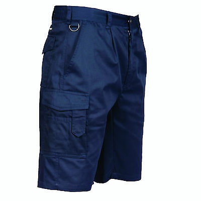 Mens Portwest S790 Combat Cargo Workwear Shorts with pockets
