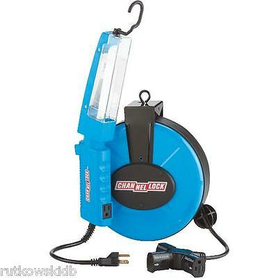 Channellock 30-foot 16/3 120V Retractable Cord Reel With Work Light
