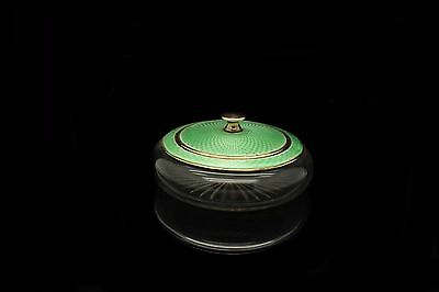 Antique Original Silver Enamel European England Glass Sugar Cup