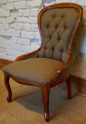 A pair of mid 20th Century Antique upholstered Occasional Chairs