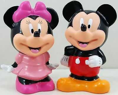"5"" Mickey Minnie Mouse Coin Piggy Banks MoneyBoxes Set 2pc"