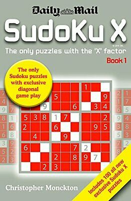 Sudoku X Book 1: The Only Puzzle with the '... by Monckton, Christophe Paperback