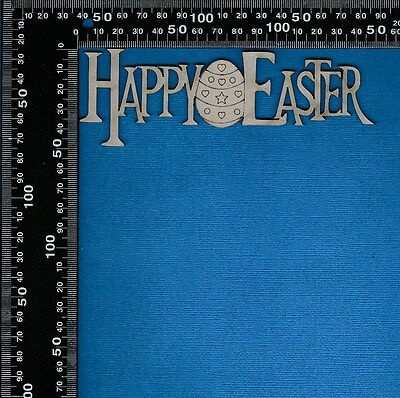 Chipboard Laser Cut Embellishment Happy Easter Words - choose your style