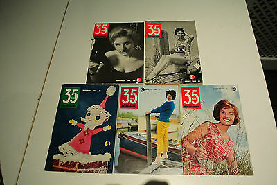 Vintage 1960s 35mm photography magazine x 5