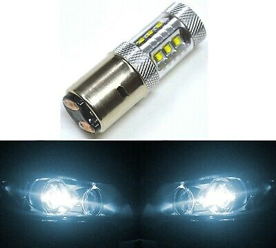 CREE LED 80W BA20d WHITE 6000K ONE BULB HEAD LIGHT LAMP FIT REPLACEMENT JDM SHOW
