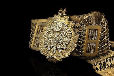 Antique Original Perfect Silver Gold Plated Islamic Ottoman Amazing Belt