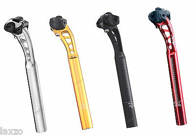 Miche Supertype Alloy Bicycle Seatpost 27.2 x 270mm in Silver Black Gold and Red