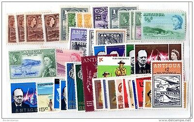Antigua QEII Collection of over 40 Mint Stamps MNH/MLH X880