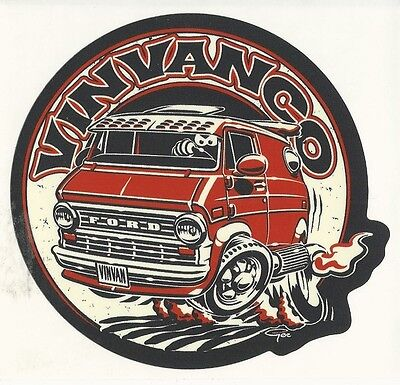 Early FORD 2nd-generation Econoline Vintage Van Sticker Peel and Stick VinVanCo
