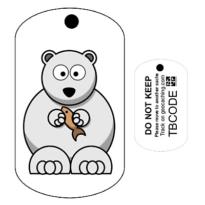 Pip the Polar Bear (Travel Bug) For Geocaching - Trackable Tag