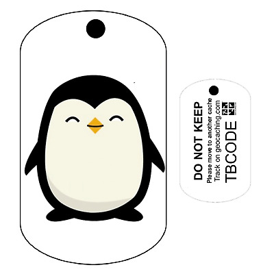 Baby Penguin (Travel Bug) For Geocaching - Trackable Tag