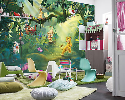 Giant wallpaper 368x254cm Lion King for kids boys teenagers bedroom wall mural