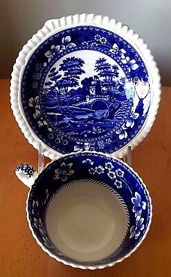 Copeland Spode's Blue Tower Gadroon Old Mark England Cup & Saucer