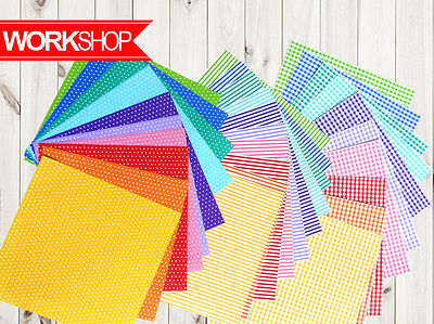 Origami paper 30 different sheets tartan stripe polka dots both side OR015