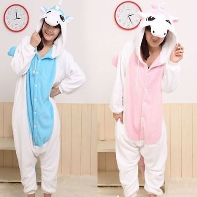 & Hot Adult / Bambino Tutina Kigurumi pigiami Anime Cosplay Sleepwear Unicorn