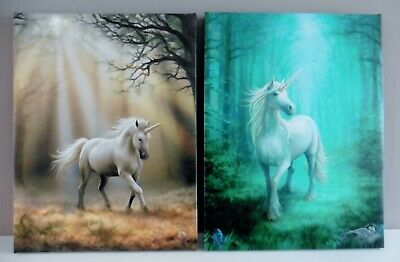 'forest Unicorn'  ~ Stunning  Unicorn Wall Plaque ~ Anne Stokes