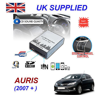 Toyota AURIS MP3 SD USB CD AUX Input Audio Adapter Digital CD Changer Module 6+6