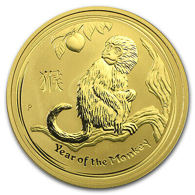 2016 Australia 1 oz Gold Lunar Monkey BU - SKU #92751