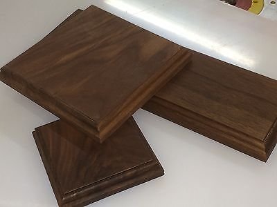 Solid hard wood American Black Walnut display bases and plinths many sizes