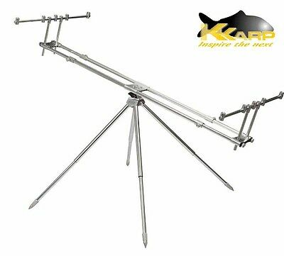 19200260 Supporto per Canne Pesca K-Karp Attraction Rod Pod Carpfishing FEU