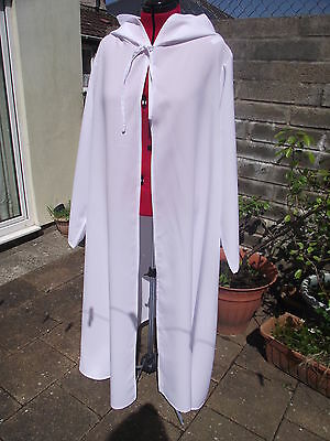 oversized white  hooded cloak with sleeves. more colours cosplay