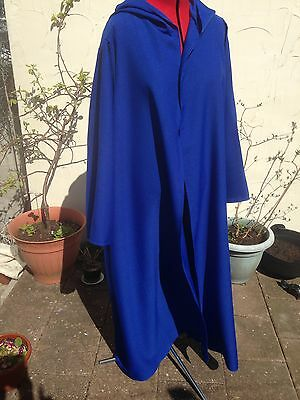 oversized royal blue  hooded cloak with sleeves. more colours cosplay merlin