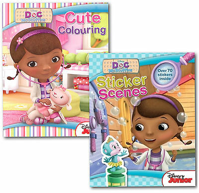 Disney Junior Doc McStuffins Colouring and Sticker Learning Activity 2 Book Set