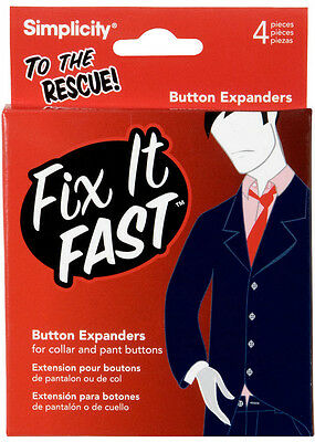 Button Expanders,Fix It Fast Button Expanders,8 pieces you receive (2 pack of 4)