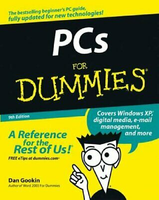 PCs for Dummies (For Dummies (Computers)) by Gookin, Dan Paperback Book The