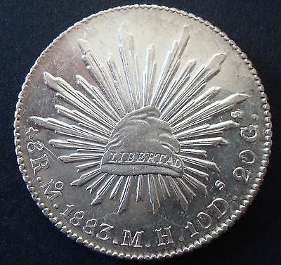 Mexico 8 Reales Silver 1883 M-H