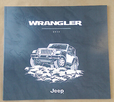 2016 Jeep Wrangler 46-page Original Sales Brochure