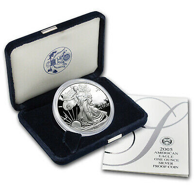 2005-W 1 oz Proof Silver American Eagle (w/Box & COA) - SKU #7346