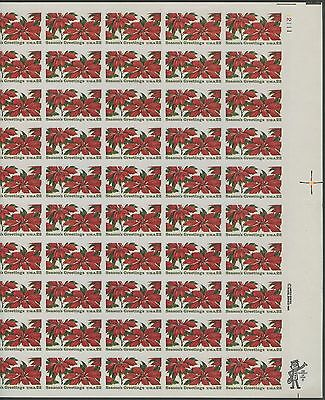 "#2166a ""POINSETTIA"" FULL SHEET OF 50 MAJOR IMPERF ERROR CV $2,500++ WL9907"
