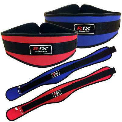 Rix 6 Weight Lifting Neoprene Belt Gym Training Back Support Lumber Pain Fitness