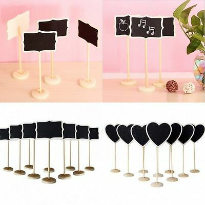 5/10X Wooden Message Number Standing Blackboard Wedding Favor Party Table Decor