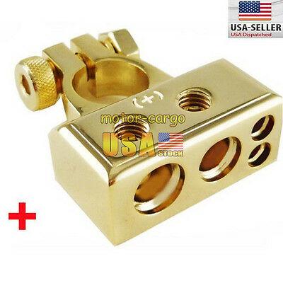 US Ship 0-4-8 GAUGE AWG P+ 12VOLT POSITIVE BATTERY TERMINAL CONNECTOR
