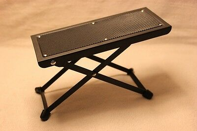 Guitarists Footstool Black Height Adjustable Guitar Foot Stool black metal frame