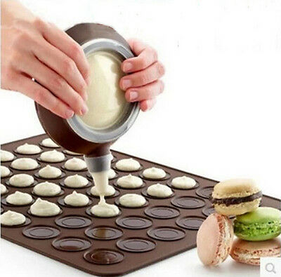 Silicone Macaron Baking Mat Pastry Cake Macaroon Oven Tray Mould Sheet Oven Mat