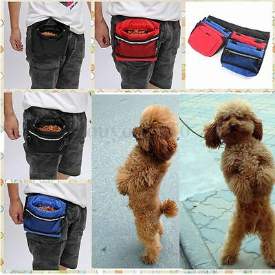 Pet Dog Puppy Agility Bait Waist Belt Pouch Training Treat Food Bag with Buckle
