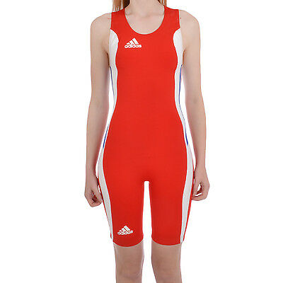 adidas Performance Womens Wrestling Body Suit Singlet - Red