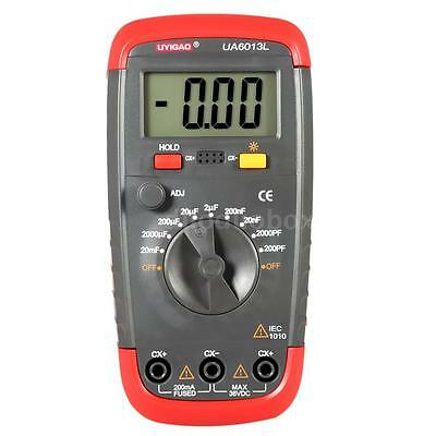 UA6013L High Precision LCD Digital Capacitor Capacitance Test Tester Meter P3PD