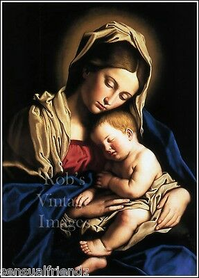 Madonna & Child art print Virgin Mary  Virgen María Poster Blessed Mother