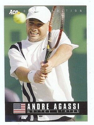 (44) ANDRE AGASSI 2005 Ace Debut Edition Tennis Card LOT
