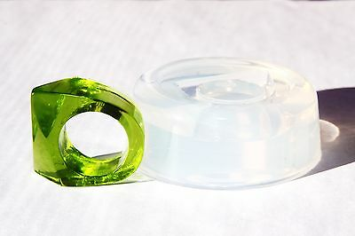 Clear handmade Silicone Mold for Ring size 7.75 (9-15) Free USA Shipping.